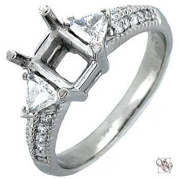 Three-Stone Ring With Diamond Accents