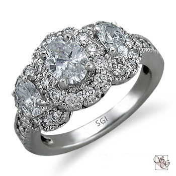 Three Stone Rings at Jefferson Estate Jewelers
