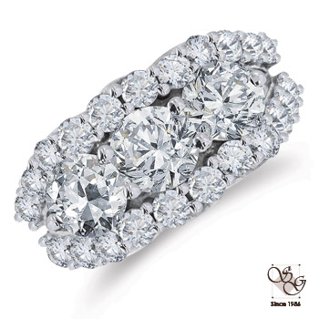 Three Stone Rings at A. T. Thomas Jewelers