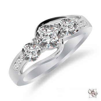 Three Stone Rings at Classic Designs Jewelry