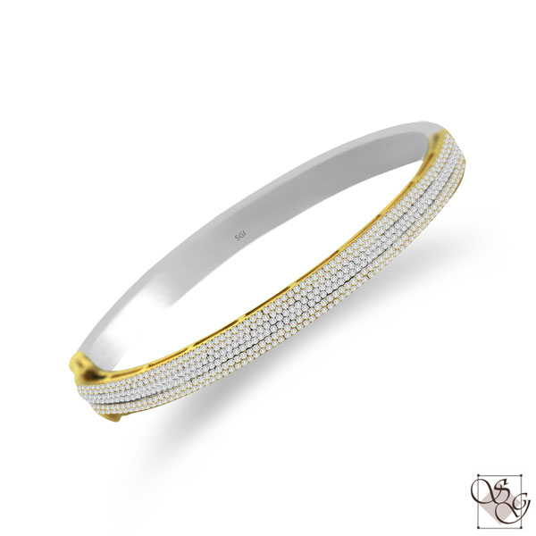 Diamond Bangles at J. David Jewelry