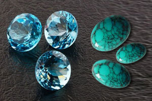 December Stone of the month Blue Topaz / Turquoise