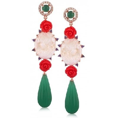Angelique de Paris - principessa-cameo-earring