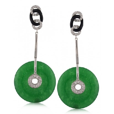 Angelique de Paris - vintage-jade-earring