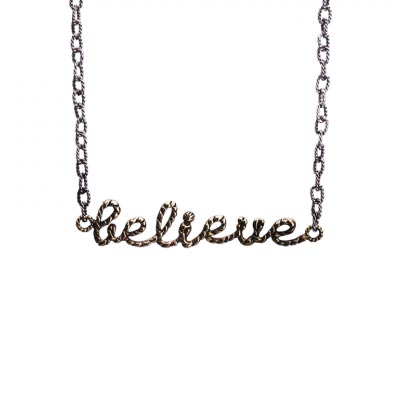 Waxing Poetic - Scribbler Believe Necklace