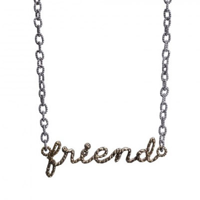 Waxing Poetic - Scribbler Friend Necklace