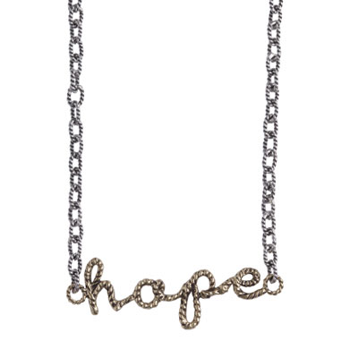 Waxing Poetic - Scribbler Necklace Hope